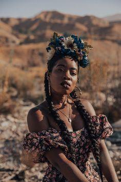 DIY: Flower Crown With Faux Flowers – Locks and Trinkets Free Black Girls, Mystic Mountain, Diy Flower Crown, Lyrical Dance, Dance Videos, Faux Flowers, 70s Fashion, Black Girl Magic, Light In The Dark