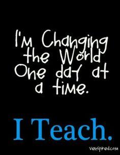 I teach!
