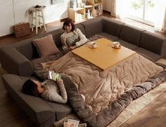 Kotatsu Japanese Couch Bed