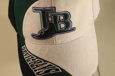 06433cb988d Tampa Bay Rays Hat Vintage MLB Logo Cap Adjustable Sewn Rare