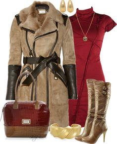 A fashion look from December 2012 featuring body con dress, zipper coat and bakers boots. Browse and shop related looks. Classy Outfits, Chic Outfits, Winter Outfits, Fashion Outfits, Teen Girl Outfits, Business Dresses, Work Fashion, Women's Fashion, Polyvore Outfits