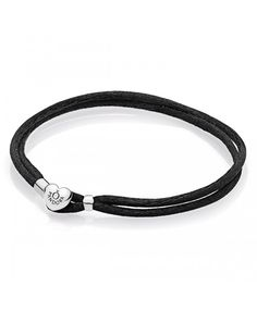leather - buy fabulous pandora bracelets unique moments, leather, rose gold and silver designs, up to off all the latest must have looks! Pandora Uk, Cheap Pandora, Pandora Leather, Pandora Bracelet Charms, Cord Bracelets, Black Fabric, Rose Gold, Personalized Items, Silver
