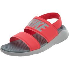 Nike Tanjun Sandal Womens Style : 882694 - Solar Red/Light Pumice - 9