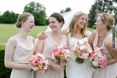 love this bridesmaids shot & LOVE the bouquets! photo by Read more: | CHECK OUT MORE IDEAS AT WEDDINGPINS.NET | #weddings #bridesmaids #bridal #dresses #fashion #forweddings