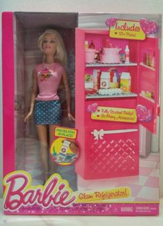 Barbie Glam Refrigerator 10 pieces fully stocked fridge New in box 2014 3+ Barbie glam frigerator set Includes: Doll 10 pieces Fully stocked fridge So many accessories. New purchased for resale by Keywebco. Video inspection are done then listed, also during handling and shipping. All Products are Shipped out Fast and Free next Business Day after clearance of payment. Products are sent directly to you from my Missouri warehouse in the USA. Worldwide shipping done via Global Shipping Program…