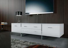 Image result for long white media console