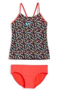 Girl's Nike 'Pixel Party' Tankini Two-Piece Swimsuit