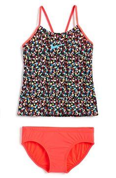 Girl's Nike 'Pixel Party' Tankini Two-Piece Swimsuit