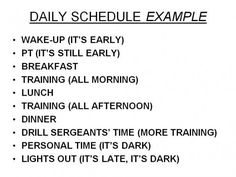 A typical day at army basic training