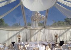 Beautiful clear tent from Alpine Event Rentals at Thanksgiving Point