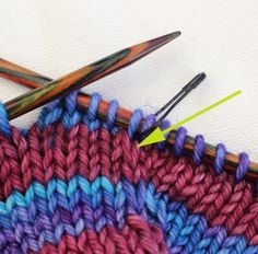 Learn How You Can Knit Jogless Stripes In The Round