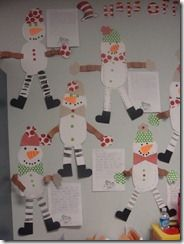 snowman art and writing