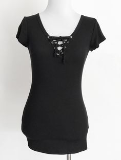 Tautmun - DANTO RIBBED LACE UP TEE - BLACK, $13.99 (http://www.tautmun.com/danto-ribbed-lace-up-tee-black/)