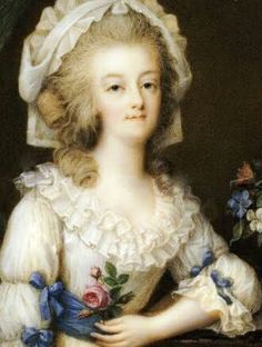Marie Antoinette as Queen. Prolly around mid-1780s
