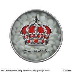 Red Crown Prince Baby Shower Candy Candy Tin