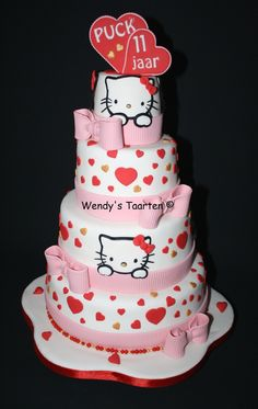 Birthday cake girls for women hello kitty 31 ideas Hello Kitty Cake Design, Hello Kitty Fondant, Torta Hello Kitty, Hello Kitty Birthday Cake, Birthday Cake Girls, Beautiful Cakes, Amazing Cakes, Cupcake Cakes, Cupcakes