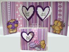 Frances Byrne using the Pop it ups Heart Pivot Card by Karen Burniston for Elizabeth Craft Designs. - Sent with Love