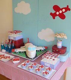 Sweet table thème avions