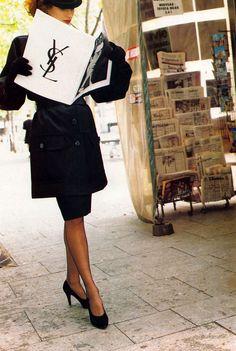 1984-85 - Yves Saint Laurent adv Violetta Sanchez Helmut Newton