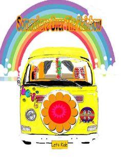 Sixties Retro Volkswagen Van Tee shirt Design by dswygert on Etsy