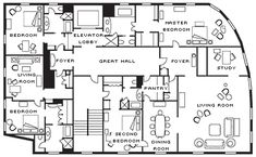 presidential suite floor plans