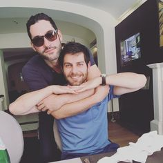 Tom Ellis from Lucifer and David Giuntoli from Grimm