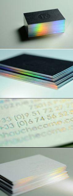 iridescent foil #identity #design