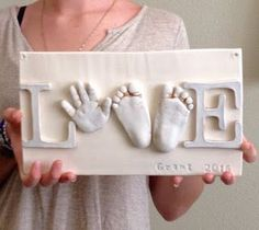 DIY Keepsake Clay Ceramic Art, Ceramic Hand Print.