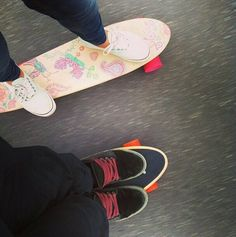 His & Hers #skatergirl #skaterchick #skate #summerlove #cruiser