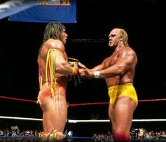 Hulk Hogan hands the WWF Championship to the Ultimate Warrior at WrestleMania VI: April 1, 1990  This was supposed to be the ceremonial passing of the torch. But the Warrior wasn't the draw Hogan was — as much as Vince McMahon and myself hoped he'd be.