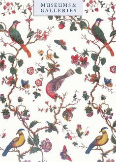 Birds, Butterflies, Flowers and Fruits, from the Vintage Textiles range by Museums & Galleries