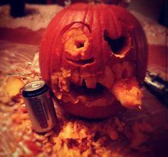 Hungover pumpkin