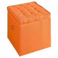 Jola Ottoman in Orange
