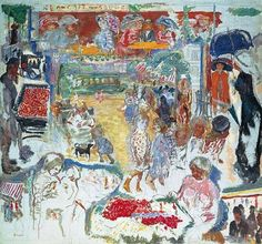 Pierre Bonnard - Street Scene (Montage of Ideas), c. 1905. Oil on canvas, 157.0 x 173.0 cm. Private Collection, ARTISTIC QUIBBLE