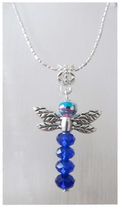 Beaded Dragonfly Necklace by SweetVenomJewels on Etsy, £3.00