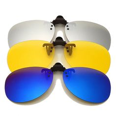 rabbagash.com Polarized Clip-On Sunglasses Classy Sunglasses that protect your eyes and comfort your vision. Perfect finish and amazing look. For both Day and Night Riding. Anti-Glare protection when riding your motorcycle. UV protection from the Sun. Various range of colors for you to suit your every occasion. Wear your style and feel the comfort!