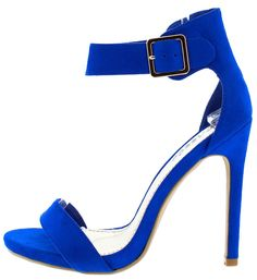 c3b6f31571b CIONE03 ROYAL BLUE SOFT OPEN TOE ANKLE STRAP STILETTO HEEL ONLY  10.88. Wholesale  Fashion Shoes
