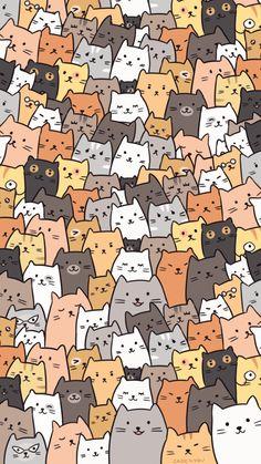 Fondo de pantalla de gatos - gatos - wallpaper - Katzen in 2020 Wallpaper Gatos, Cat Pattern Wallpaper, Iphone Wallpaper Cat, Cute Cat Wallpaper, Homescreen Wallpaper, Kawaii Wallpaper, Cute Wallpaper Backgrounds, Pretty Wallpapers, Animal Wallpaper