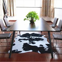 140X200CM Imitation Leather European-style Carpet For Living Room European Bedroom Dairy Cow Pattern Mat Coffee Table Floor Mat