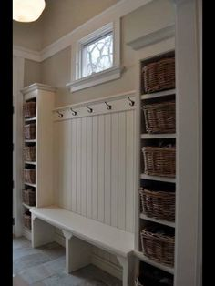 Two bookcases, with a bench in the middle! Perfect!!