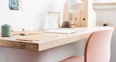 Zwevende wandplank bureau slaapkamer werkplek