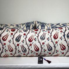 Suzani & ikat cushion by Heritage Geneve