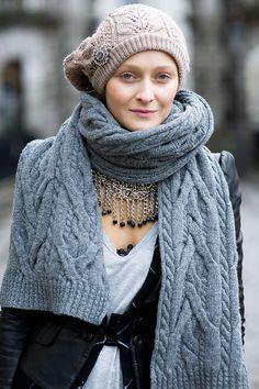 yo quiero una bufanda así...