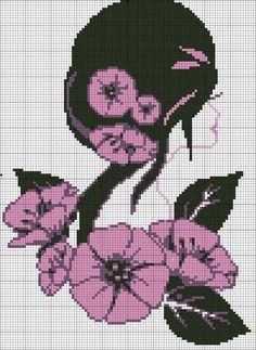 Gallery.ru / Фото #104 - Портреты (схемы) 2 - Olgakam Seed Bead Patterns, Beading Patterns, Cross Stitch Patterns, Pixel Crochet, Crochet Chart, Beaded Cross Stitch, Cross Stitch Flowers, Blackwork, Diy Bead Embroidery