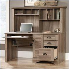 Home Office Desk Computer Workstation Furniture Desk Hutch New Rustic  Cottage