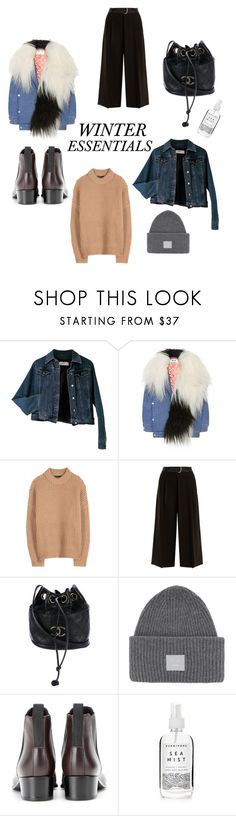 """winter essentials"" by idka ❤ liked on Polyvore featuring Moschino, Acne Studios, The Row, Weekend Max Mara, Chanel and Herbivore"