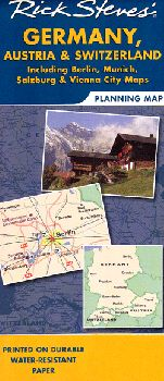 Rick Steves Map of Germany, Austria and Switzerland