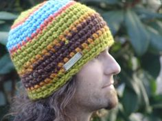 Mans Wide Stripe Earthtone Striped Chunky by BeehiveCreation, $25.00