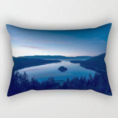 Emerald Bay Rectangular Pillow by untitledgallery Lumbar Pillow, Poplin Fabric, Accent Decor, Tapestry, Zipper, Contemporary, Pillows, Medium, Room