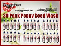 30 Pack Poppy Seed Wash Price: $141 +Shipping: $38.95         ($4.70 per bottle) ($5.99 per bottle with shipping) https://www.paypal.com/us/cgi-bin/webscr?cmd=_flow&SESSION=HFXUEkgkNB9t0VETdKsns1UpEX0AkXItE2rXjmCoI85LSRnkLM98vZWR5SC&dispatch=50a222a57771920b6a3d7b606239e4d529b525e0b7e69bf0224adecfb0124e9b61f737ba21b0819848475f0da5465a2ea26eae033cbe3bda